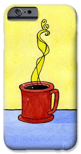 Appleton Art iPhone Cases - Black Coffee iPhone Case by Norma Appleton