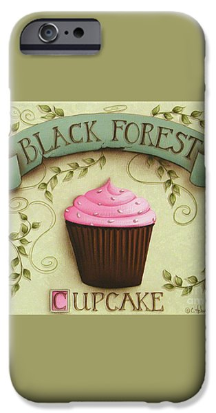Black Forest Cupcake iPhone Case by Catherine Holman