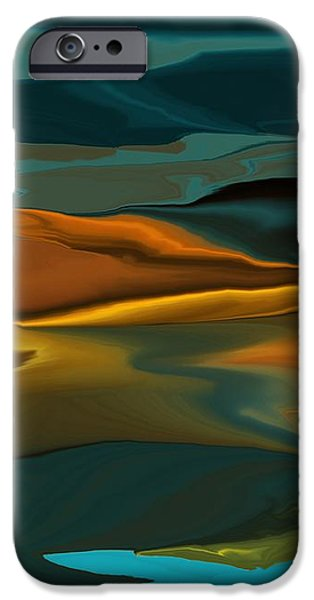 Black Hills Abstract iPhone Case by David Lane