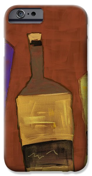 Red Wine Pastels iPhone Cases - Black Label iPhone Case by Diana Wade
