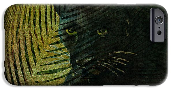 Panther iPhone Cases - Black Panther iPhone Case by Arline Wagner