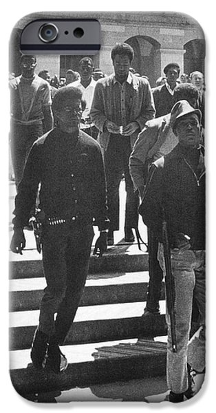BLACK PANTHERS, 1967 iPhone Case by Granger