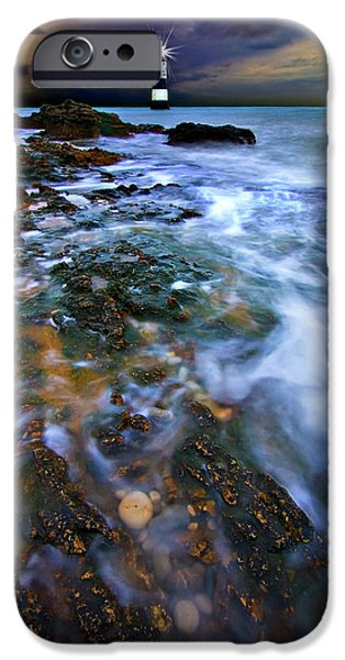 Mist iPhone Cases - Black Point Light iPhone Case by Meirion Matthias