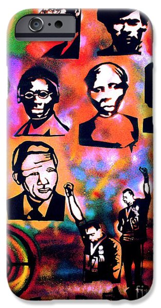 Liberation iPhone Cases - Black Revolution iPhone Case by Tony B Conscious