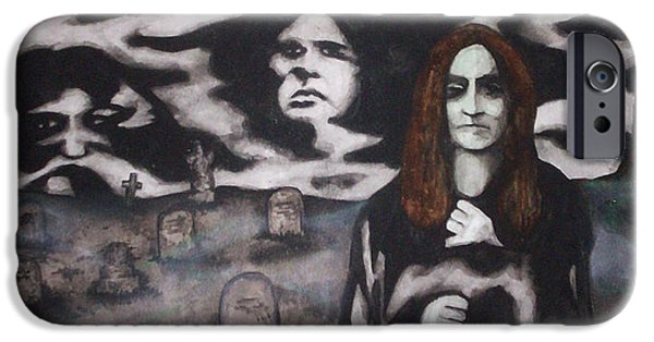 Cemetary iPhone Cases - Black Sabbath Tribute iPhone Case by Sam Hane