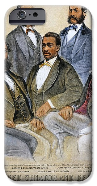 BLACK SENATORS, 1872 iPhone Case by Granger