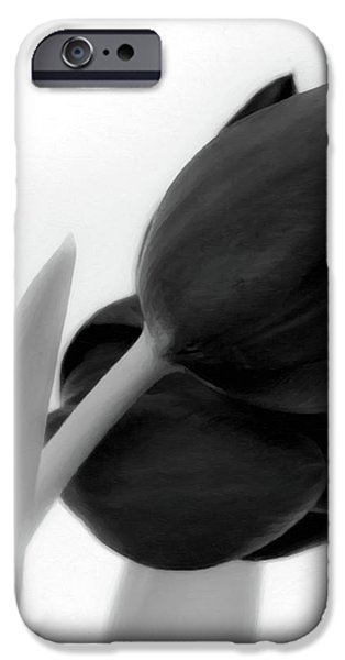 Close Up Floral iPhone Cases - Black Tulips iPhone Case by Wim Lanclus