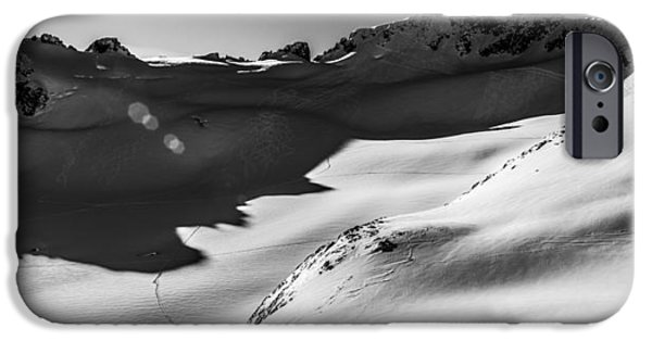 Skiing iPhone Cases - Blackcomb Backcountry iPhone Case by Ian Stotesbury