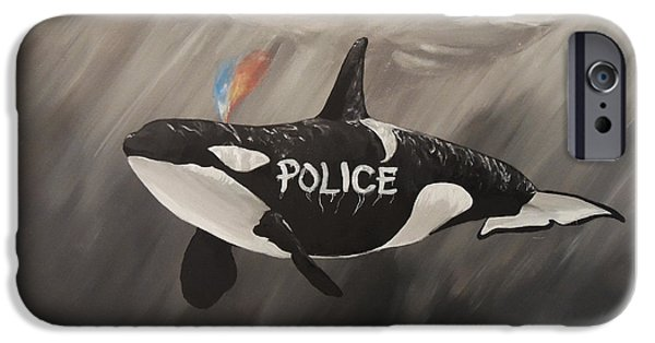 Police iPhone Cases - Blackfish iPhone Case by Nicki Yarwick