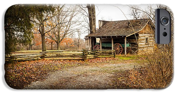 Cabin Window iPhone Cases - Blacksmith Shop iPhone Case by Imagery by Charly