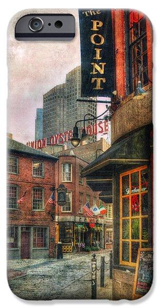 City. Boston iPhone Cases - Blackstone Square - Union Oyster House - Boston iPhone Case by Joann Vitali