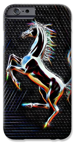 Horse Racing iPhone Cases - Blaze Of Glory iPhone Case by Gill Billington