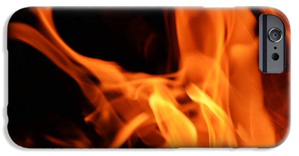 Red Abstract iPhone Cases - Blaze of Glory iPhone Case by Richard Andrews