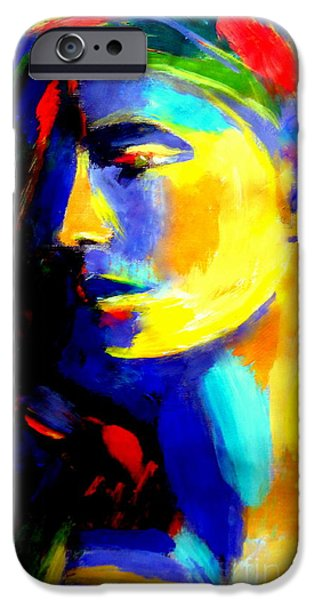 Figure iPhone Cases - Blazing in gold iPhone Case by Helena Wierzbicki