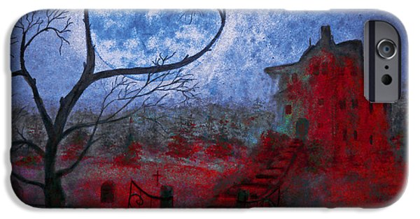Haunted House iPhone Cases - Bleeding house iPhone Case by Ken Figurski
