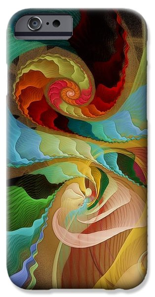 Blending into Our Souls iPhone Case by Gayle Odsather