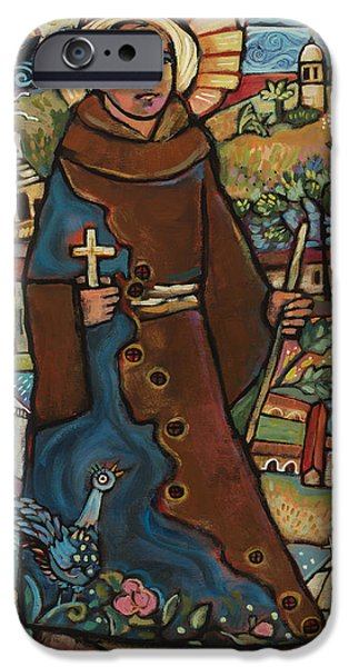 History iPhone Cases - Blessed Junipero Serra iPhone Case by Jen Norton