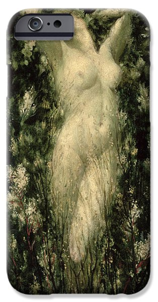 Pagan iPhone Cases - Blodeuwedd iPhone Case by Christopher Williams