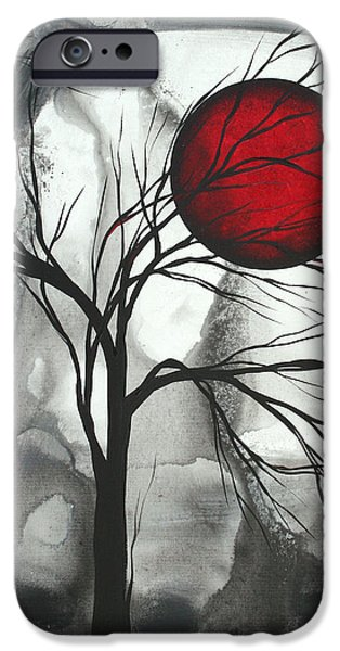 Home Paintings iPhone Cases - Blood of the Moon 2 by MADART iPhone Case by Megan Duncanson