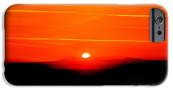 Setting Sun iPhone Cases - Blood Red Sunset iPhone Case by Az Jackson