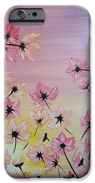 Recently Sold -  - Pastel iPhone Cases - Blooming Flowers iPhone Case by Roxane Gabriel