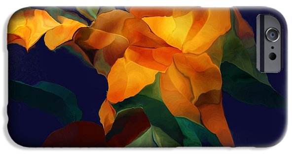 Nature Abstracts iPhone Cases - Blossom 100615 iPhone Case by David Lane