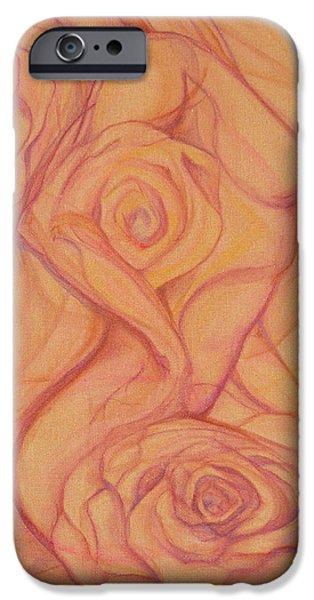 Female Mixed Media iPhone Cases - Blossom iPhone Case by Caroline Czelatko
