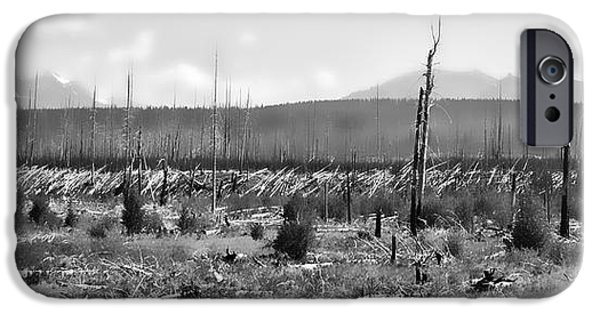 West Fork iPhone Cases - Blow Down Burn Out iPhone Case by Allan Van Gasbeck