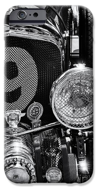 Monochrome iPhone Cases - Blower Bentley iPhone Case by Tim Gainey