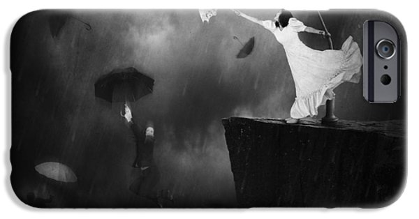 Manipulation iPhone Cases - Blowin In The Wind iPhone Case by Erik Brede