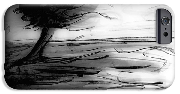 Windblown Paintings iPhone Cases - Blown iPhone Case by Artsy Gypsy