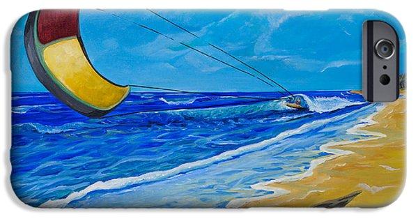 Kite Boarding iPhone Cases - Blown Away iPhone Case by Terri McCutchan