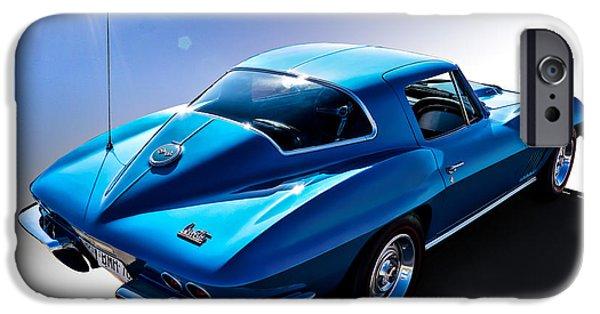 Automotive iPhone Cases - Blue 67  iPhone Case by Douglas Pittman