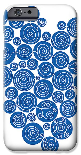 Blue Abstracts iPhone Cases - Blue Abstract iPhone Case by Frank Tschakert