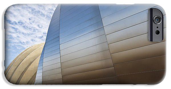 Symphony Hall iPhone Cases - Blue and Gold iPhone Case by Dennis Hedberg