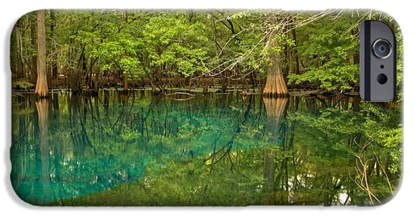 Chiefland iPhone Cases - Blue And Green Waters At Manatee iPhone Case by Adam Jewell
