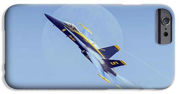 Industry iPhone Cases - Blue Angel - Blue Moon iPhone Case by Brian Wallace
