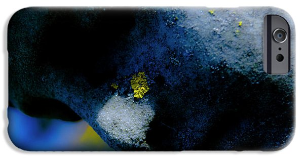 Angel Blues Photographs iPhone Cases - Blue Angel Face i iPhone Case by Grebo Gray