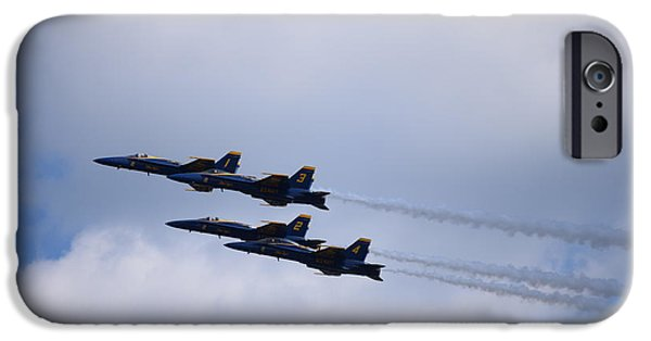 Angel Blues iPhone Cases - Blue Angels 1 iPhone Case by Randy Dyer