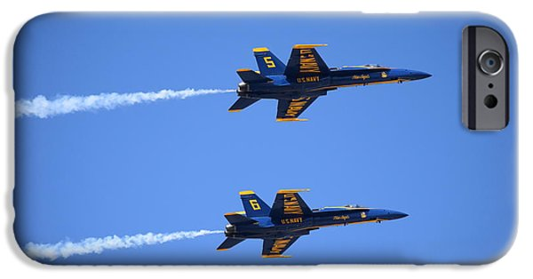 Angel Blues iPhone Cases - Blue Angels 2 iPhone Case by Randy Dyer