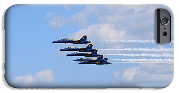 Angel Blues iPhone Cases - Blue Angels 3 iPhone Case by Randy Dyer