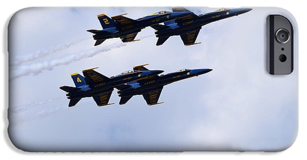 Angel Blues iPhone Cases - Blue Angels 4 iPhone Case by Randy Dyer