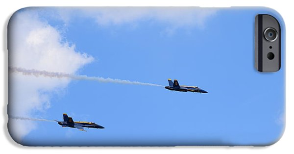 Angel Blues iPhone Cases - Blue Angels 5 iPhone Case by Randy Dyer