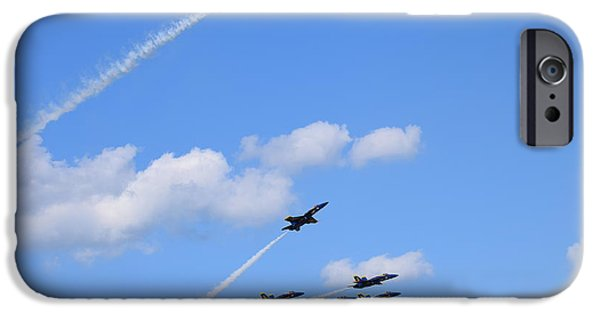Angel Blues iPhone Cases - Blue Angels 6 iPhone Case by Randy Dyer