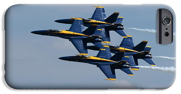 Angel Blues iPhone Cases - Blue Angels iPhone Case by Gordon Ellingson