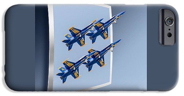 Angel Blues iPhone Cases - Blue Angels - OOF iPhone Case by Brian Wallace