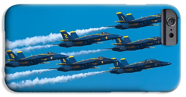 F-18 iPhone Cases - Blue Angels iPhone Case by Sebastian Musial