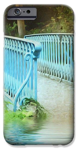 Blue Bridge iPhone Case by Svetlana Sewell