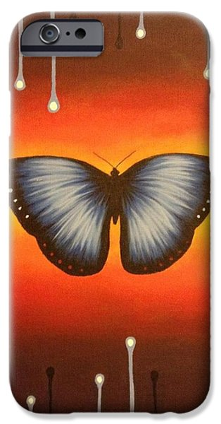 Recently Sold -  - Strange iPhone Cases - Blue Butterfly iPhone Case by Holly Grootonk