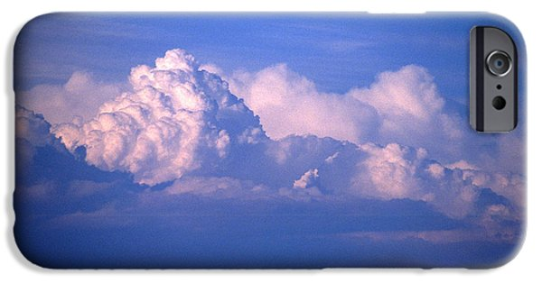 Turbulent Skies iPhone Cases - Blue Clouds iPhone Case by Malcolm Padgham